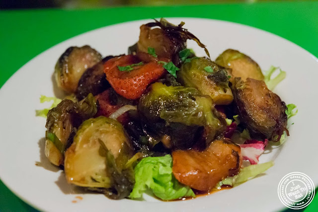 image of roasted Brussels sprouts at Table Verte, French vegetarian restaurant in NYC, New York