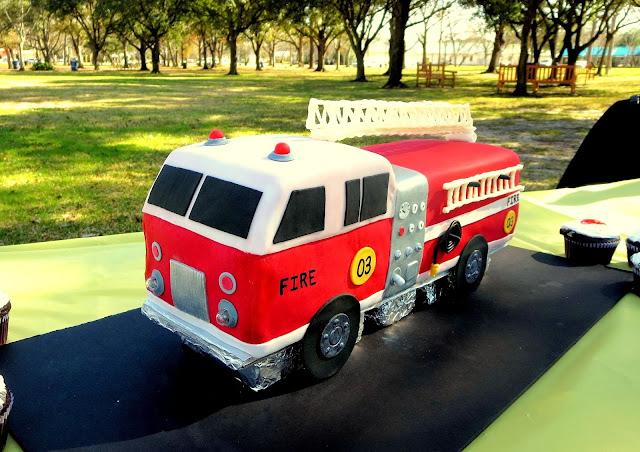 3D Fire Truck Cake 1