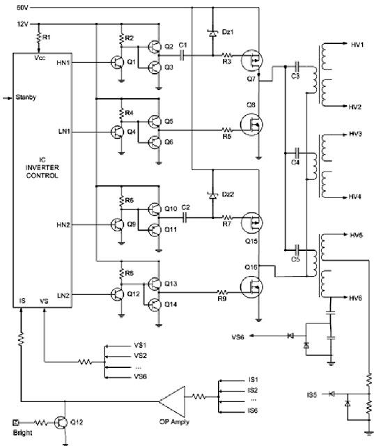 """Hình 28 - Sơ đồ nguyên lý máy SHARP 32"""""""