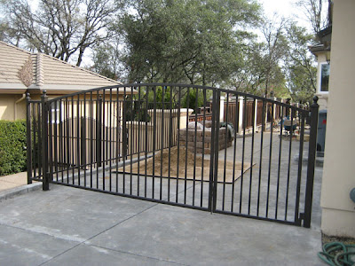 Side Yard Driveway Gate