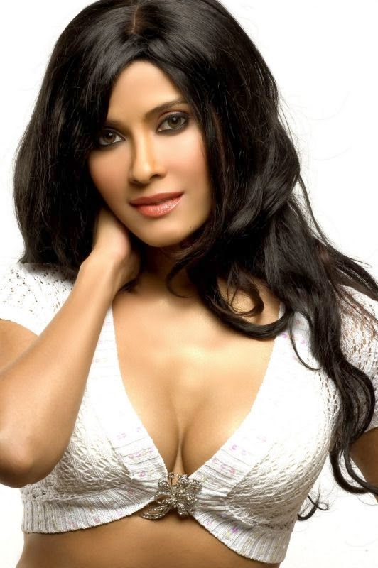 Nandana Sen huge cleavage show in tight white top