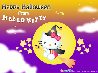 Hello Kitty Halloween Desktop Wallpaper Background 1024x168