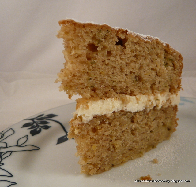 Cake Crumbs And Cooking Parsnip Maple Syrup And Pear Cake