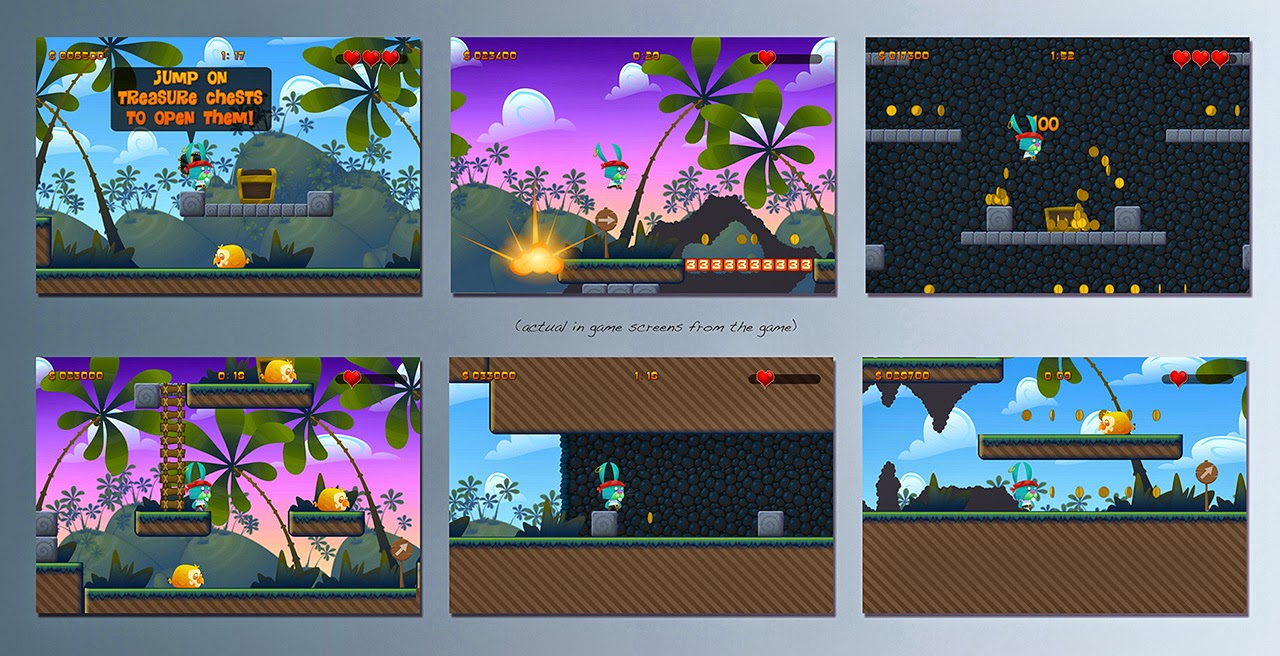 plunder bunny 2d platformer game screens collection