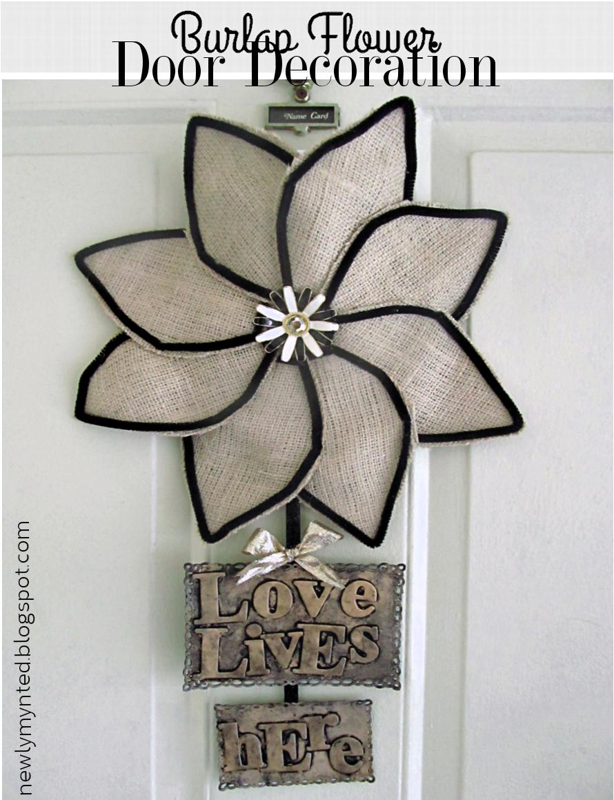 sm editorial diy burlap flower door decoration