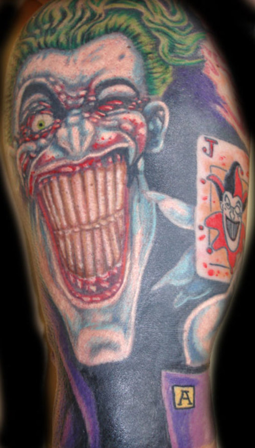 joker tattoos design one off cool clown tattoo best tattoo pictures. Black Bedroom Furniture Sets. Home Design Ideas
