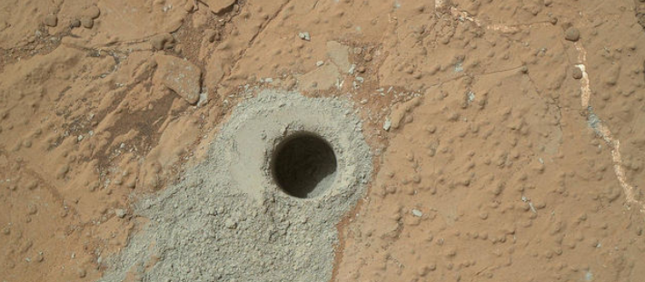 NASA MARS Curiosity Water Organic Matter on Mars Image