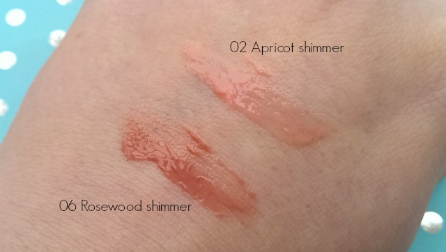 Clarins lip perfectors swatched