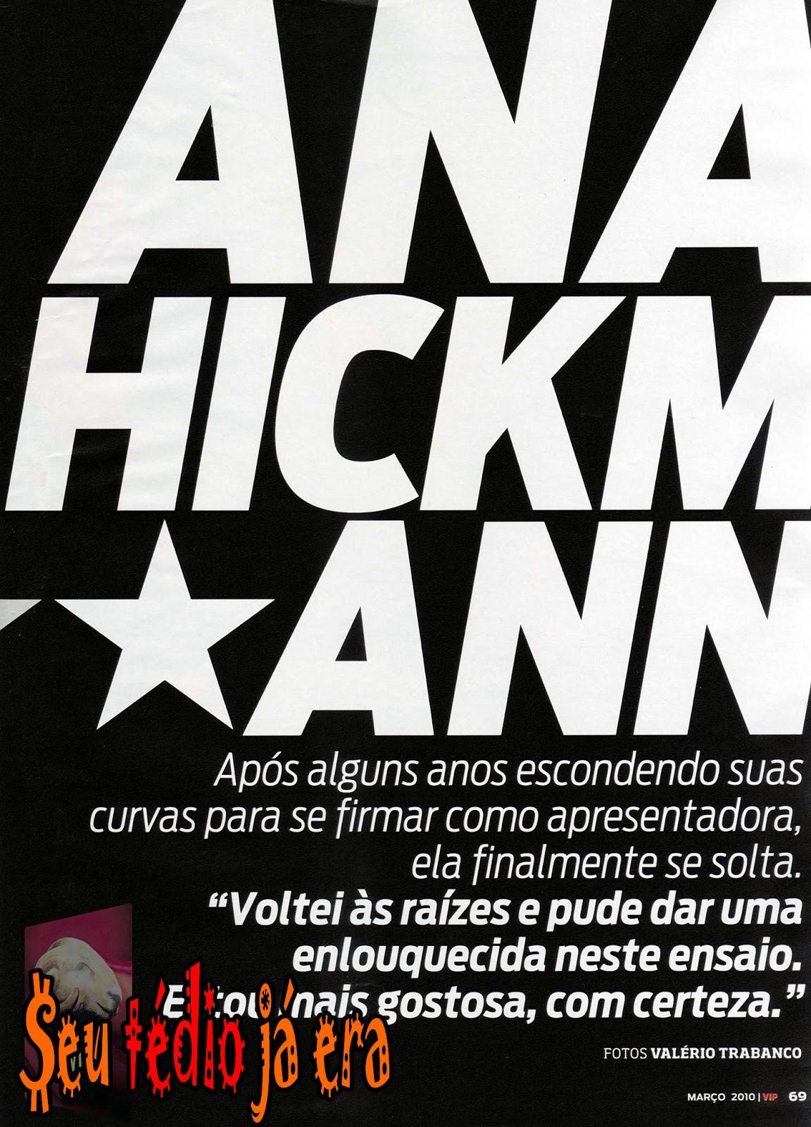 Ana Hickmann Nua Pelada Na Revista Vip