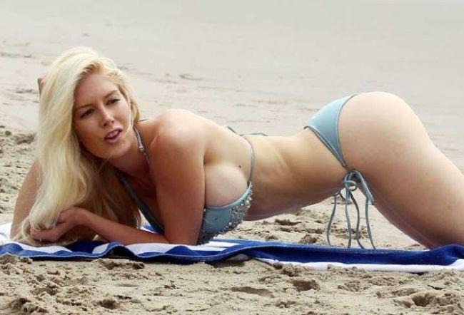 "Retro Bikini: Heidi Montag Wears ""Blue Bikini"" At Santa Monica (12 ..."