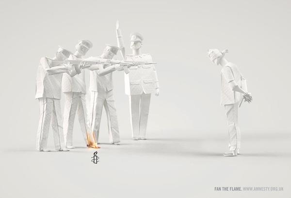 Alexej Lyapunov y Lena Erlich (People Too). Fan the Flame (Aviva la llama), for Amnesty International (Amnistía Internacional)