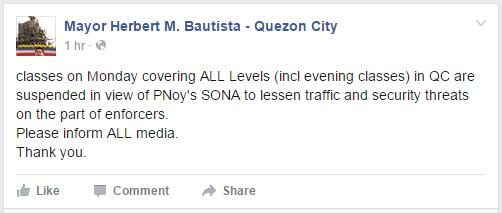 Herbert Bautista QC Mayor Facebook