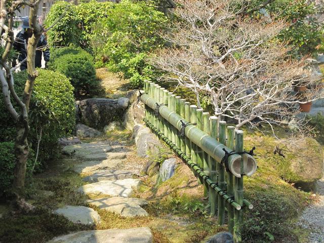 cerca de bambu; jardim japones
