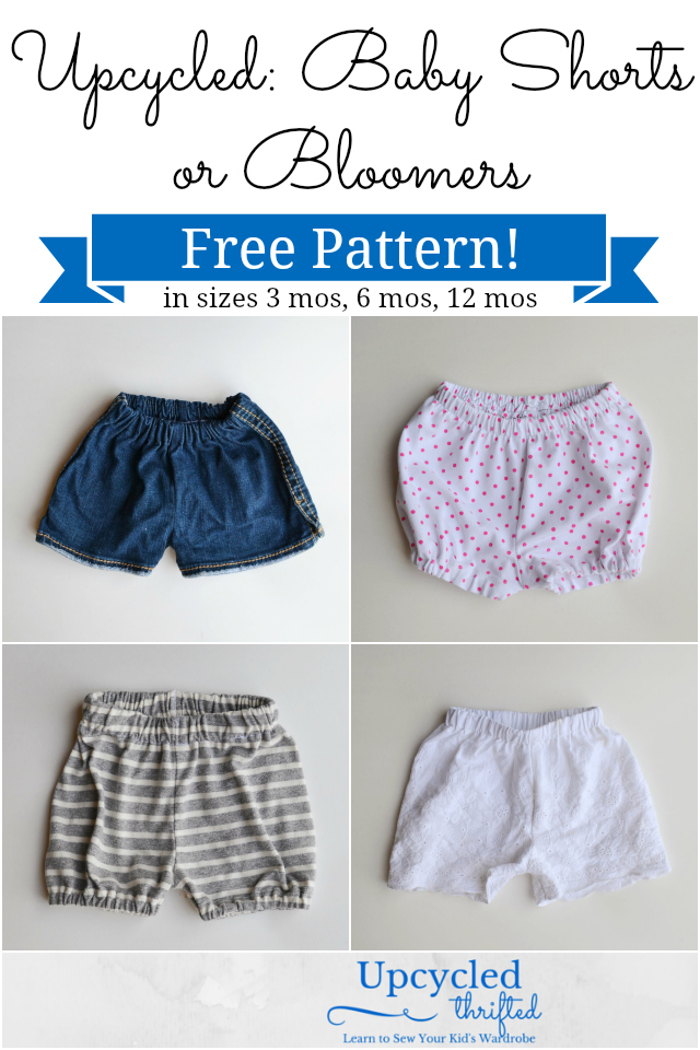 Upcycled Baby Shorts and Bloomers: FREE Pattern! - Heather Handmade