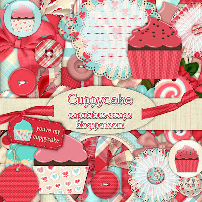 "Scrapbook Freebie ""Cuppycake"" by capricious"