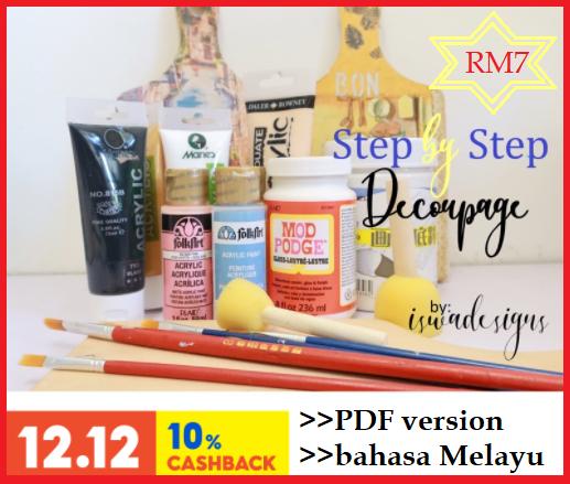 Dapatkan Sekarang! Step by Step Decoupage