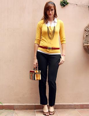 Me conservo Me vuelvo vintage Sweater - Cardigan amarillo (mostaza)