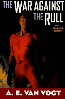Cover image of the fix up novel The War Against the Rull by A E van Vogt