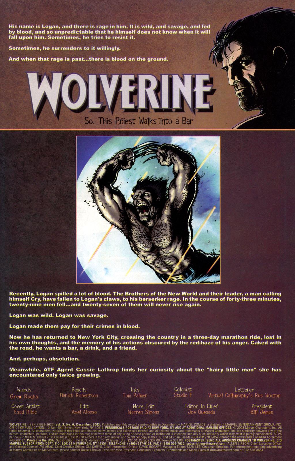 Read online Wolverine (2003) comic -  Issue #6 - 2
