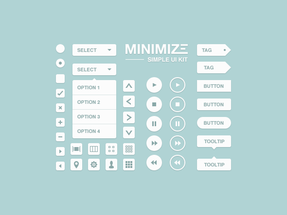 Minimize User interface (UI) Kit