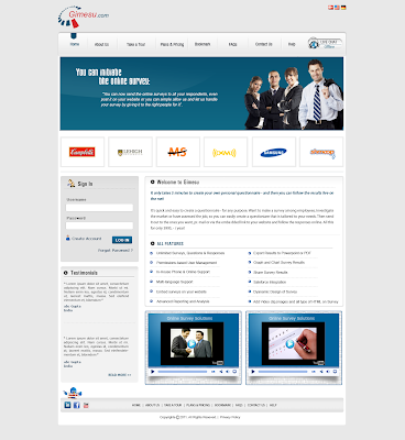 online survey website designing