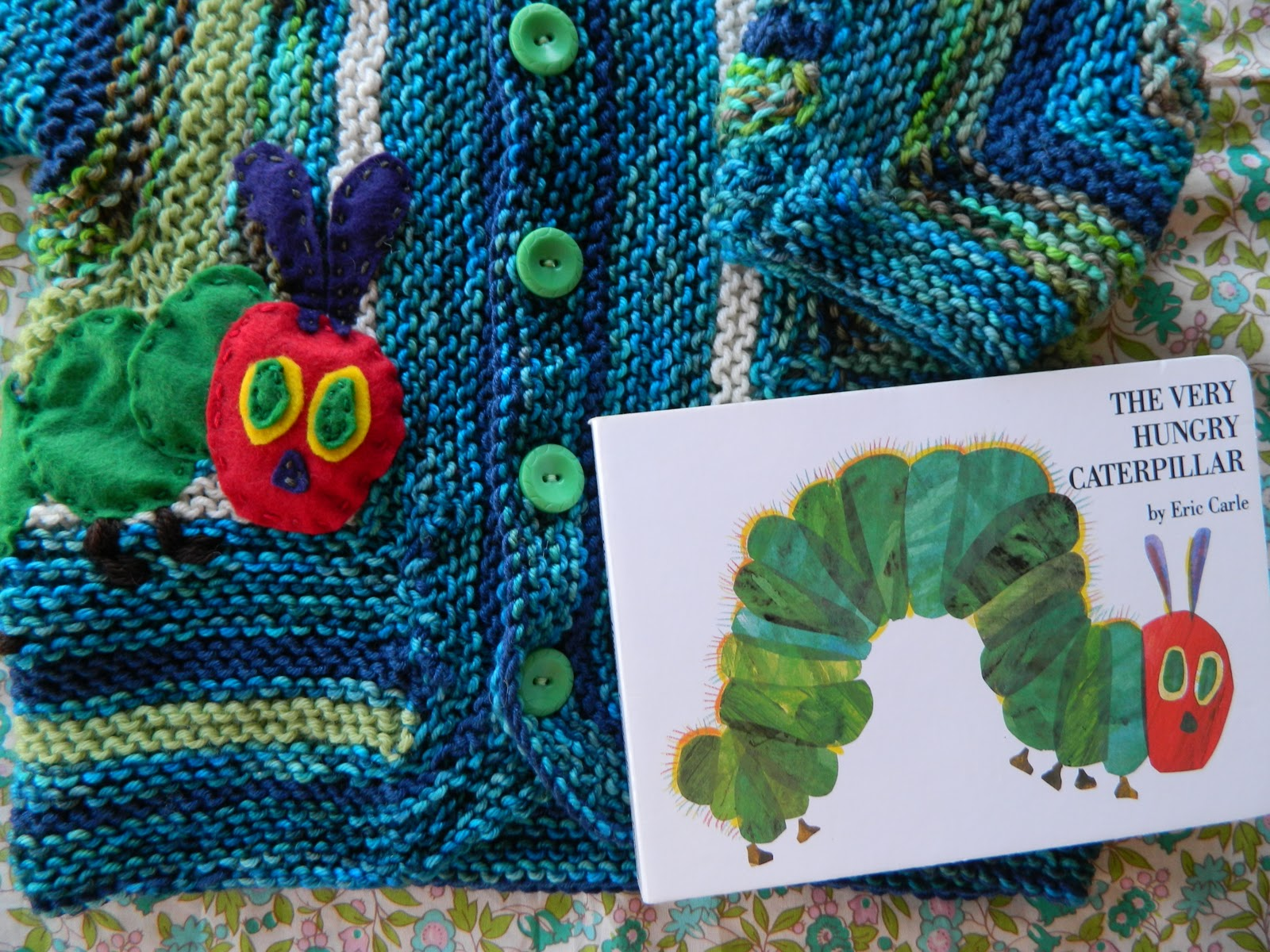 the vintage umbrella: Very Hungry Caterpillar baby sweater
