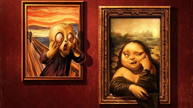 Bored Mona Lisa HD Wallpaper