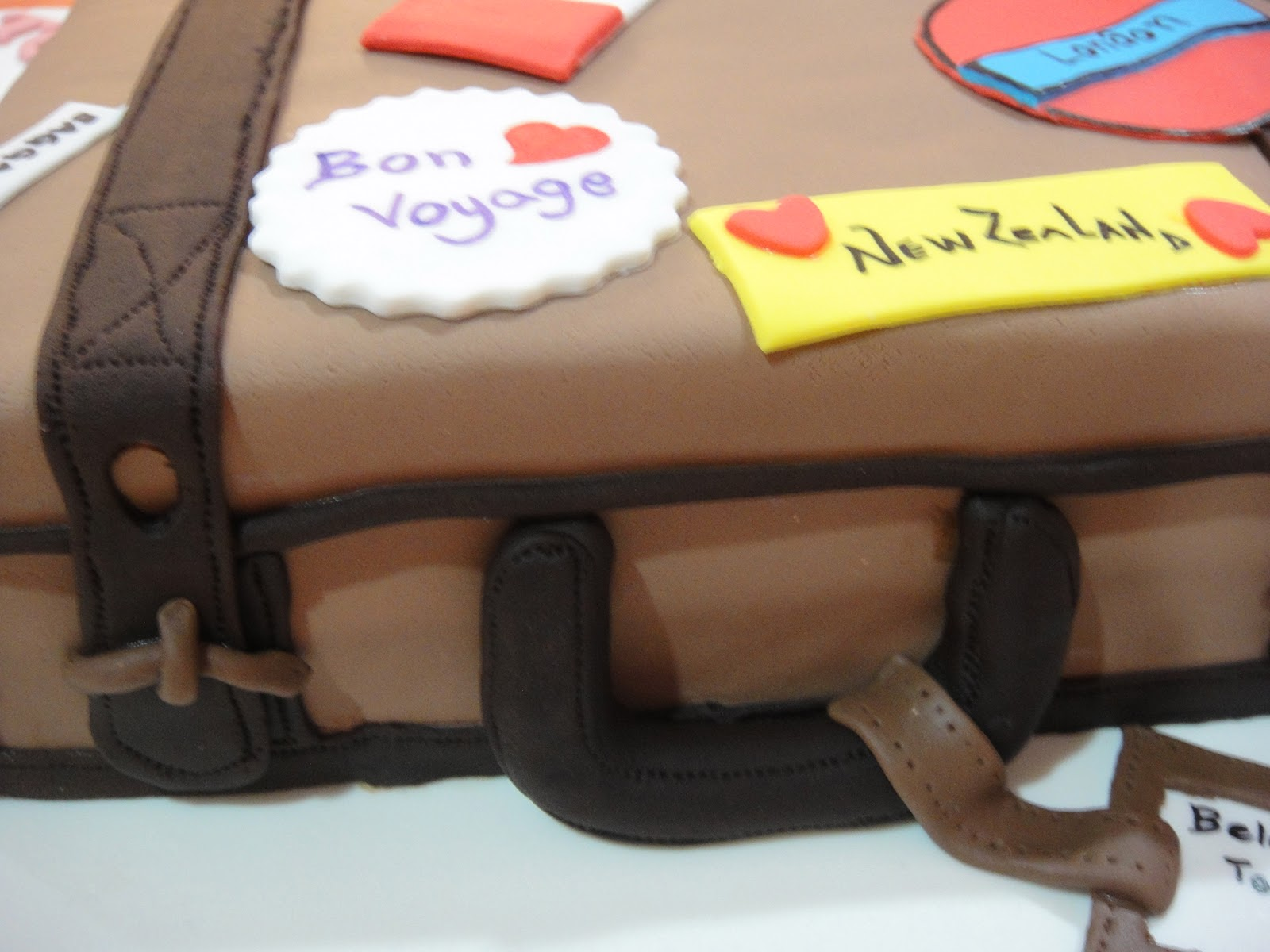 A Traveling Suitcase Birthday Cake For Elizabeth My Bumblebee Bakes