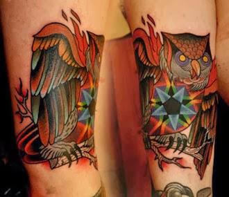 Ideias de tatuagens de corujas para o braço