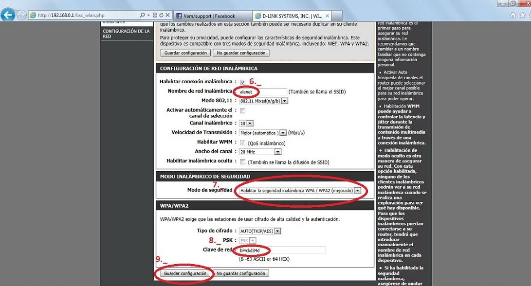En SSID o nombre de red inalámbricapon el nombre a la red que