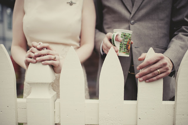 sweet capture of a simple home vintage style wedding