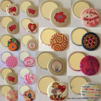 Fabric-Covered Mirror Buttons
