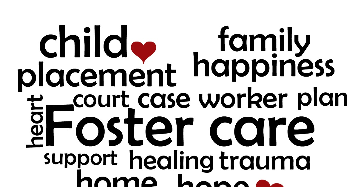 vinyl expressions   heart with foster care words