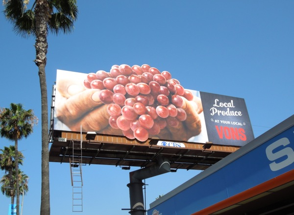 Vons Local Produce Grapes special extension billboard
