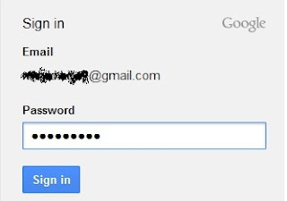 Sign in gmail to blogger