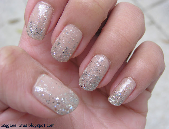 Ice Princess Nail Art in daylight