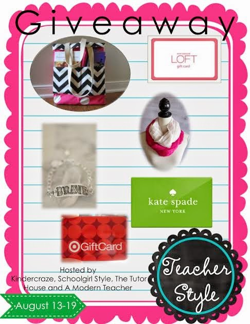 Enter to win Kate Spade, Target and LOFT gift cards in the Teacher Style GIVEAWAY!