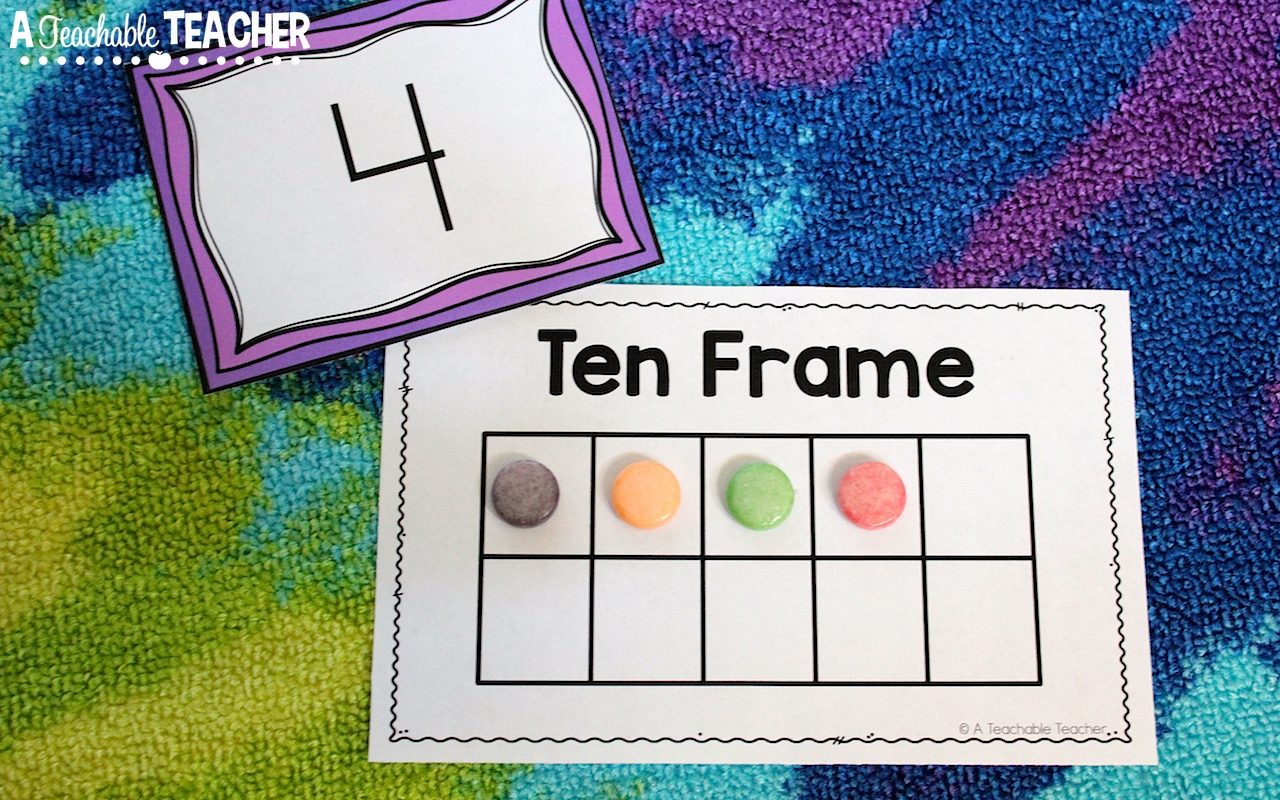 i started out by giving students a number they had been introduced to numbers 1 10 and i would ask them to count out that many and show it on a ten frame