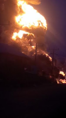 OMG!! : Filling station in Nnewi, Anambra gutted by fire this morning [ Photos ]