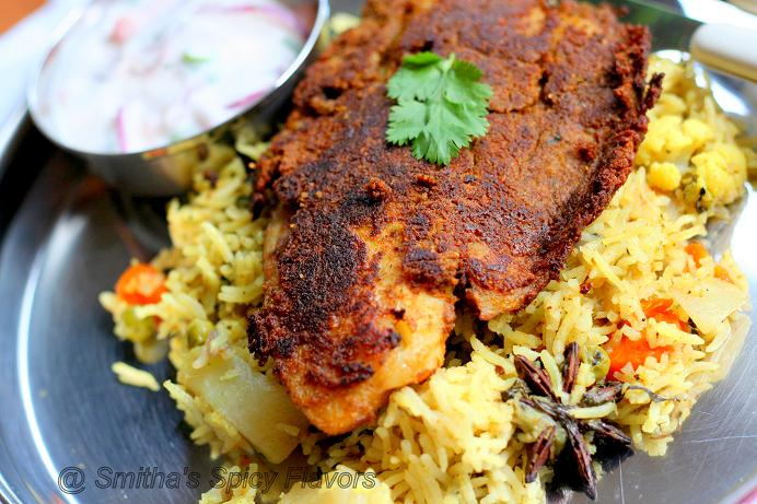 Smitha 39 s spicy flavors cooking my way for What to serve with fish fillets