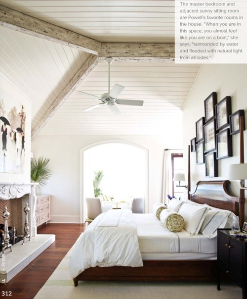 Shorely Chic Wooden Beam Ceilings: master bedroom ceiling beams