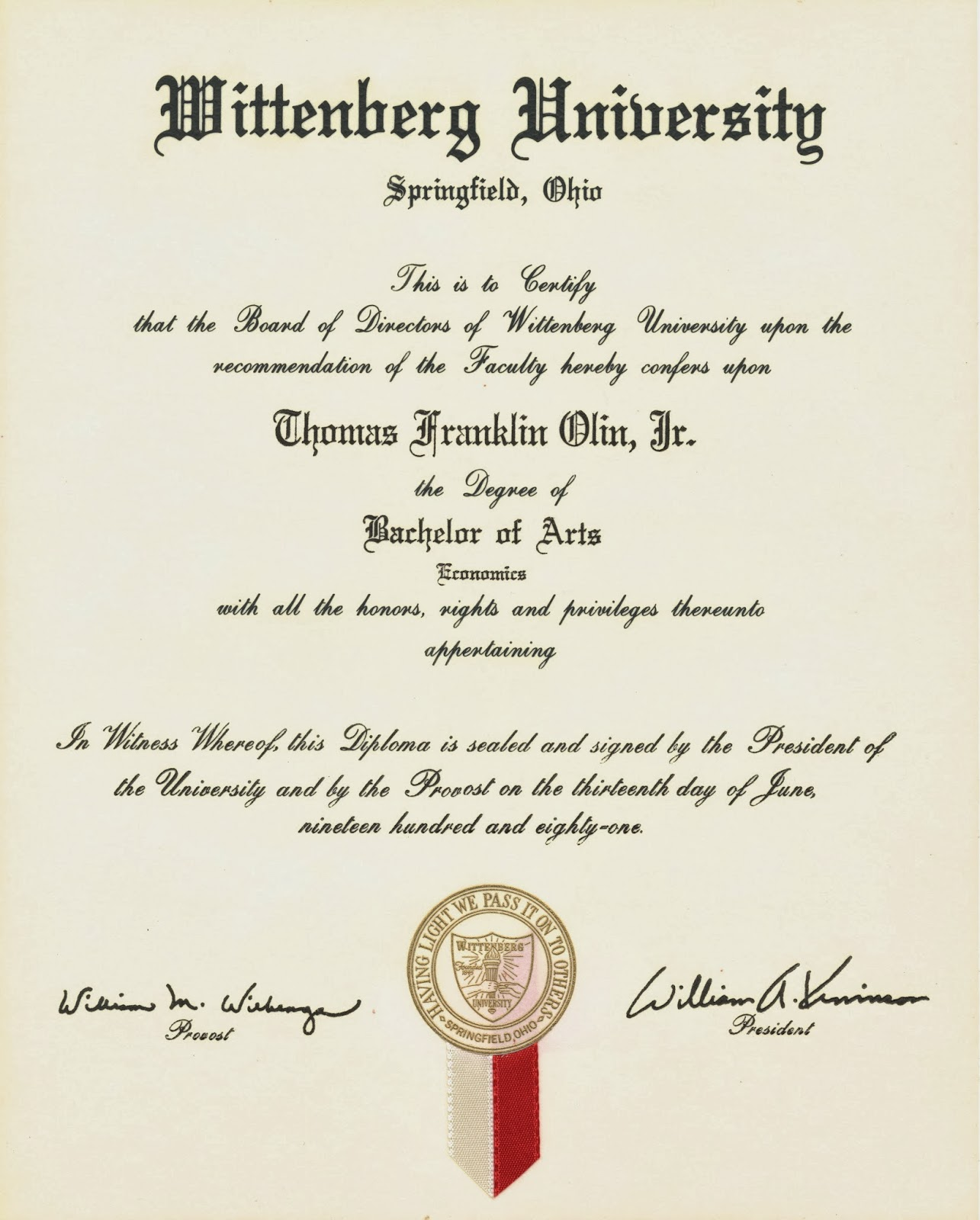 Tom olin jr implemented first schoolalumni wide survey to assess issues related to relative lack of school gifting to the university and issues facing the board in xflitez Image collections