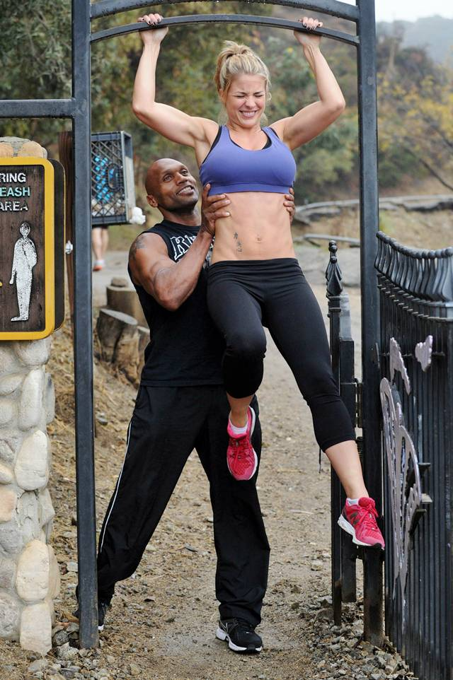 Gemma Atkinson and Liam Richards — Training in Hollywood Hills