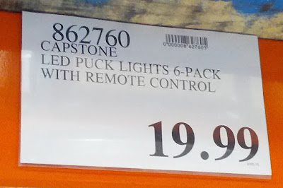Deal for a 6 pack of Capstone LED Puck Lights at Costco