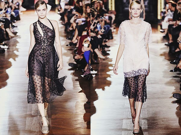 {fashion inspiration | runway : chloé and stella mccartney s/s 2014, paris}