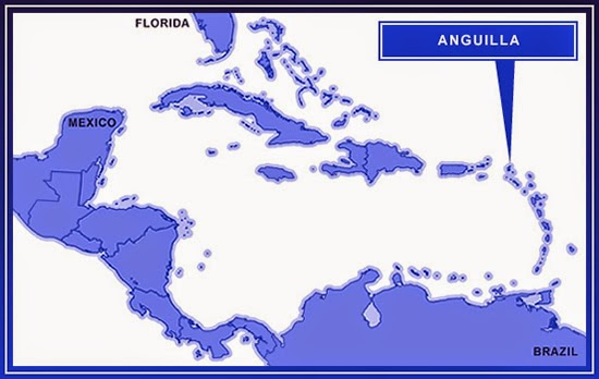 Anguilla on the map