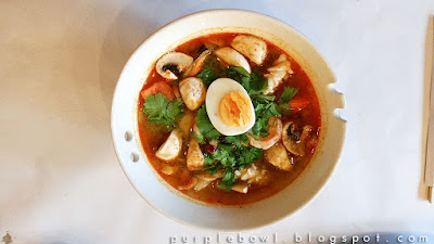 seafood kuay teow tom yam at Nine Elephants