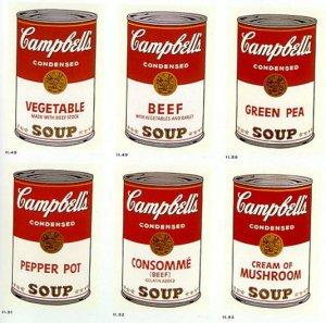Tecnologia e arte dove la scienza si fonde con la for Barattoli di zuppa campbell s