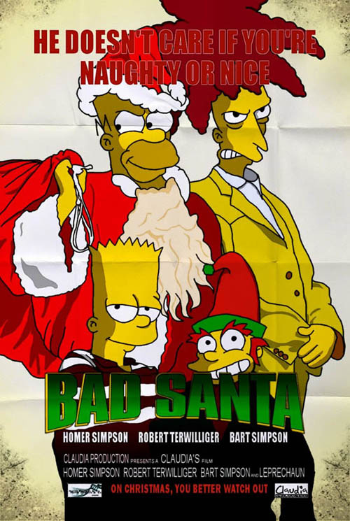 posters cinema simpsons - Bad Santa