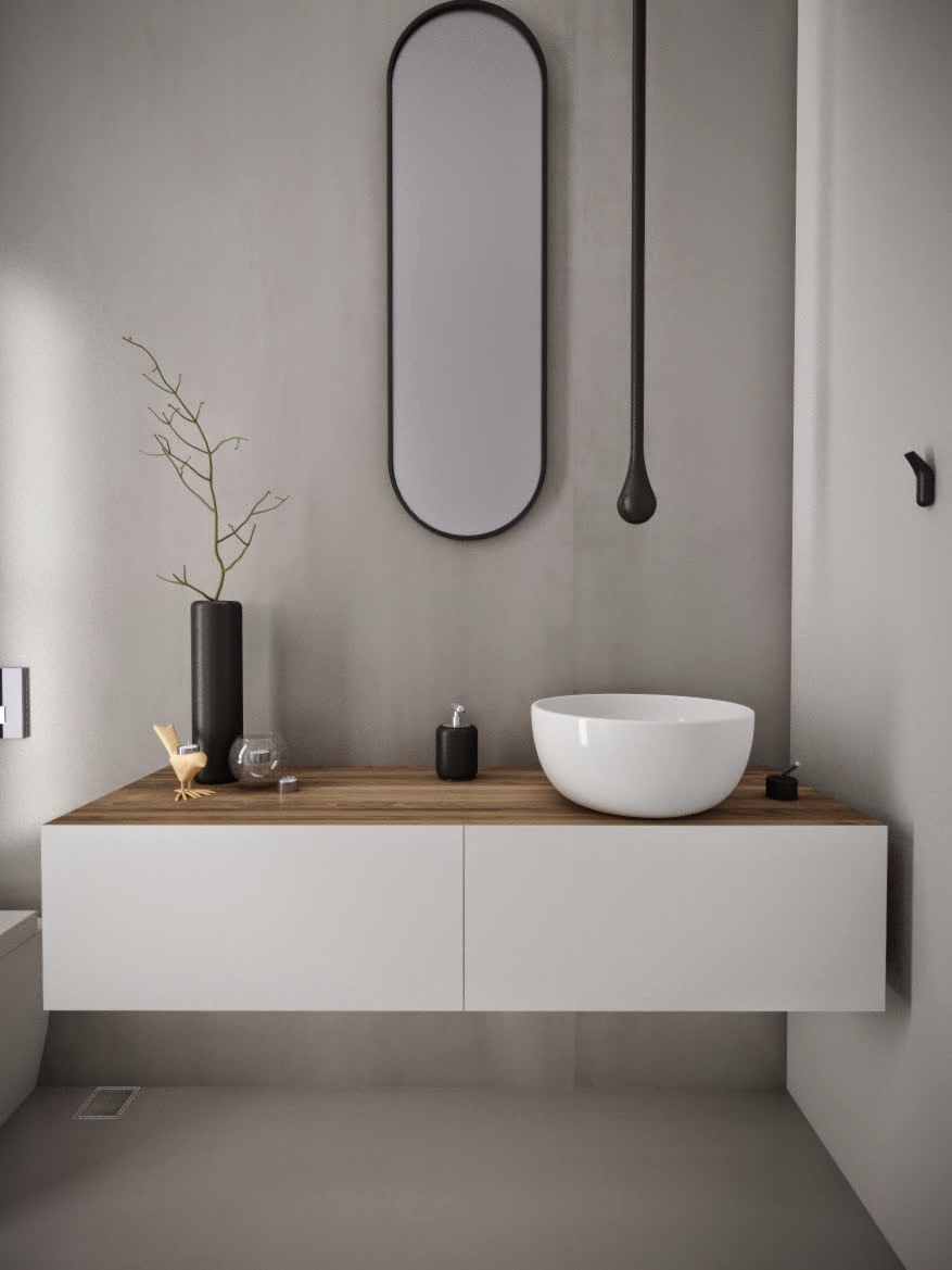 Minosa powder room something different is becoming normal for Bathroom furniture design ideas